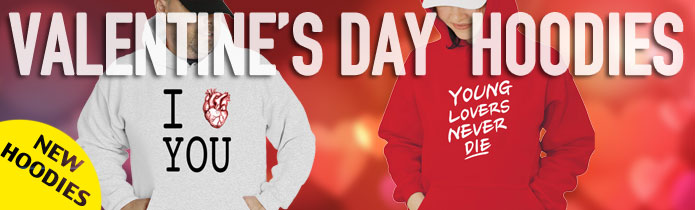 Valentine's Day Long Hoodies