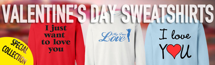 Valentine's Day Crew Neck Sweatshirts