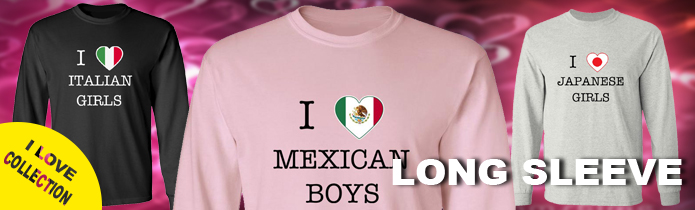 I Love Boys Long Sleeve T-Shirts