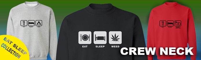 Eat, Sleep....Crew Neck Sweatshirts
