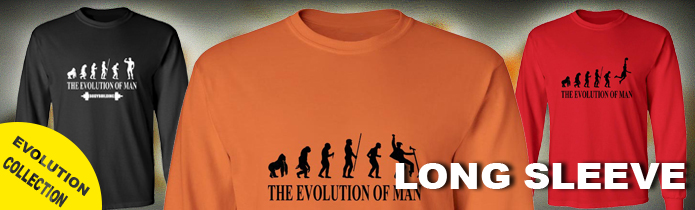Evolution of Man Long Sleeve T-shirts
