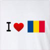I Love Romania- Flag Long Sleeve T-Shirt