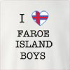 I Love Faroe Island Boys Crew Neck Sweatshirt