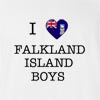 I Love Falkland Island Boys Girls T-shirt