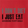 I Don't Diet I Just Eat According To My Goals crew neck Sweatshirt