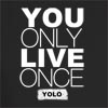 You Only Live Once Print Hooded Sweatshirt