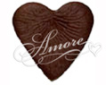 100 Silk Rose Petals Heart Shape Chocolate Brown - Cocoa