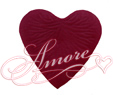 600 Silk Rose Petals Heart Shape Burgundy