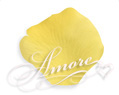 Yellow Silk Rose Petals Wedding 600