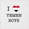 I Love Yemen Boys Hooded Sweatshirt
