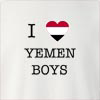 I Love Yemen Boys Crew Neck Sweatshirt