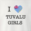 I Love Tuvalu Girls Crew Neck Sweatshirt