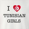 I Love Tunisia Girls Crew Neck Sweatshirt