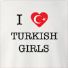 I Love Turkey Girls Crew Neck Sweatshirt