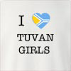 I Love Tuva Girls Crew Neck Sweatshirt