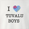 I Love Tuvalu Boys Crew Neck Sweatshirt
