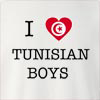I Love Tunisia Boys Crew Neck Sweatshirt