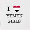 I Love Yemen Girls Hooded Sweatshirt
