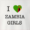 I Love Zambia Girls Crew Neck Sweatshirt