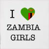 I Love Zambia Girls Hooded Sweatshirt