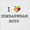 I Love Zimbabwe Boys Hooded Sweatshirt