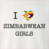 I Love Zimbabwe Girls Crew Neck Sweatshirt