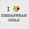 I Love Zimbabwe Girls Hooded Sweatshirt
