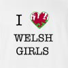 I Love Wales Girls T-shirt