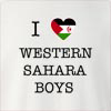 I Love Western Sahara Boys Crew Neck Sweatshirt