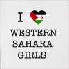 I Love Western Sahara Girls Hooded Sweatshirt