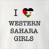 I Love Western Sahara Girls Crew Neck Sweatshirt