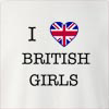 I Love United Kingdom British Girls Crew Neck Sweatshirt