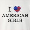 I Love United States Of America Girls Crew Neck Sweatshirt