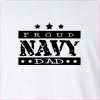 Proud Navy Dad Long Sleeve T-Shirt