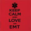 Keep Calm And Love An EMT  Hooded Sweatshirt