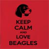 Keep Calm And Love Beagles  Hooded Sweatshirt