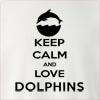 Keep Calm And Love Dolphins Crew Neck Sweatshirt