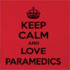 Keep Calm And Love Paramedics  Hooded Sweatshirt