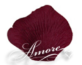Deep Burgundy Silk Rose Petals Wedding 1000