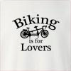 Biking Is For Lovers Crew Neck Sweatshirt