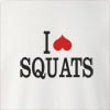 I Love Squats Crew Neck Sweatshirt