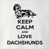 Keep Calm And Love Dachshunds Crew Neck Sweatshirt