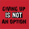Giving Up Is Not An Option Hooded Sweatshirt