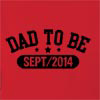 Dad To Be Sept/2014 Hooded Sweatshirt