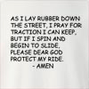 As I Lay Rubber Crew Neck Sweatshirt