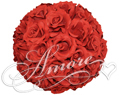 8 inches Silk Pomander Kissing Ball Red