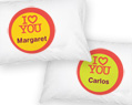 Personalized Pillow Case Set I Love You
