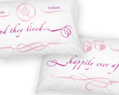 Happily ever after Personalized Pillowcase Set 2 pcs