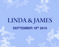 Personalized Lip Balm Wedding Favors - Blue Butterflies