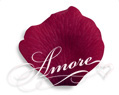 Burgundy Silk Rose Petals Wedding 1000